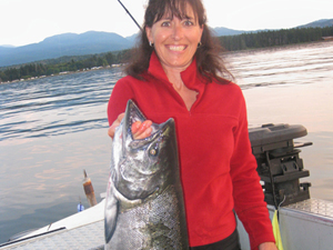BC salmon fishing charters, Vancouver Island fishing charters, eco boat tours, Deep Bay