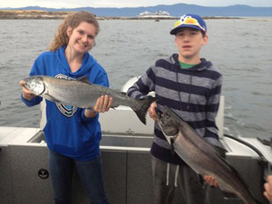 Kids love fishing too, Vancouver Island salmon fishing charters, eco boat tours, BC