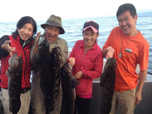 Family fishing for salmon, Vancouver Island fishing charters, eco boat tours, BC
